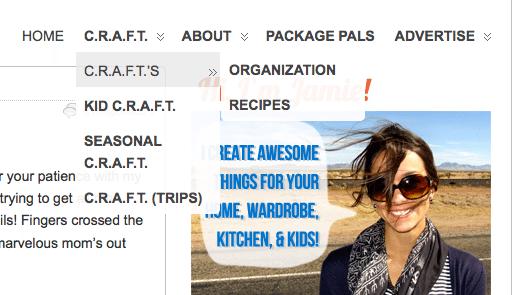 CRAFT custom menu