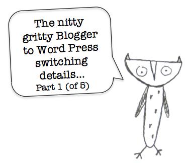 Blogger to WordPress Switch