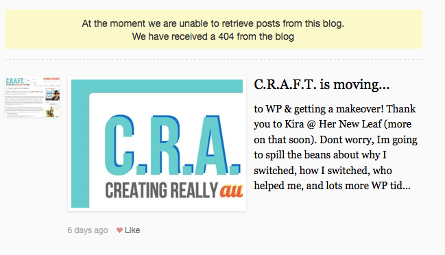 CRAFT on blog lovin