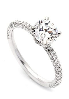 thin band engagement ring