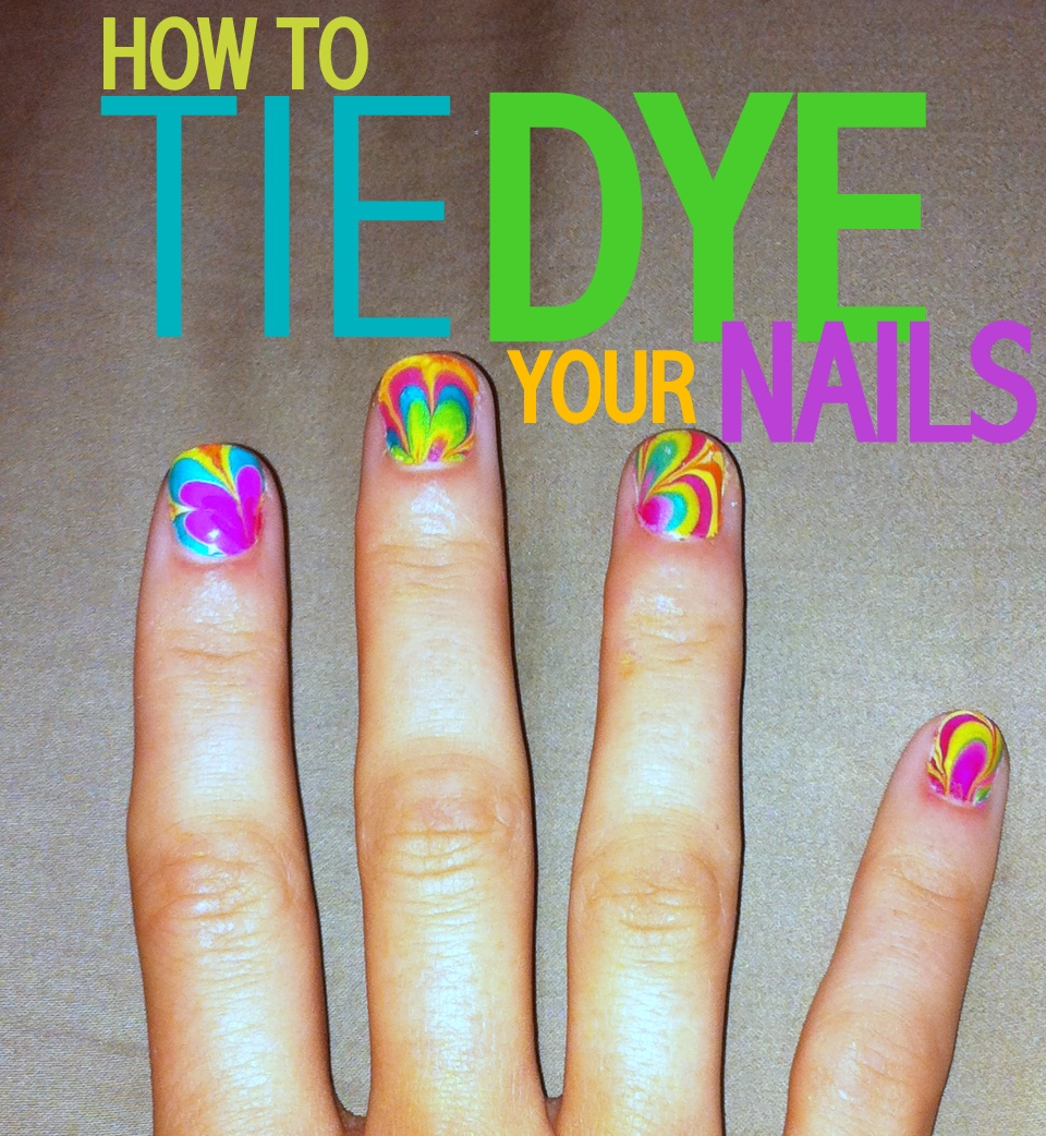 C.R.A.F.T.  82 Tie Dye Nails {nail design} {marble nails