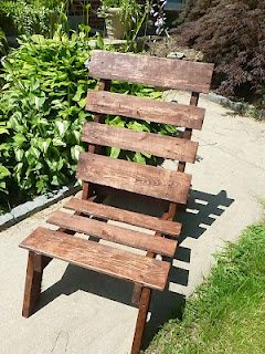 a one pallet chair project