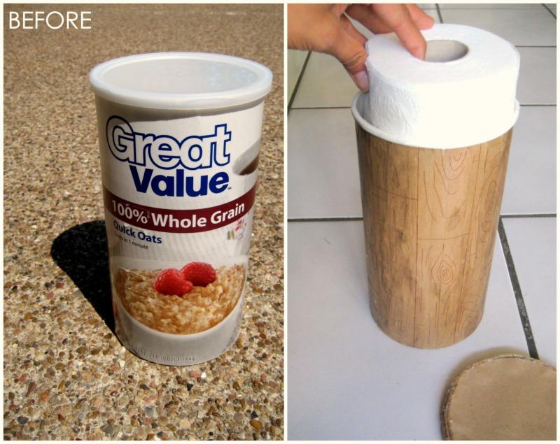 Mod Podge toilet paper holder