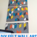 DIY wall art {perfect for a rental}