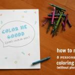 Personalized Coloring Books {coloring pictures}