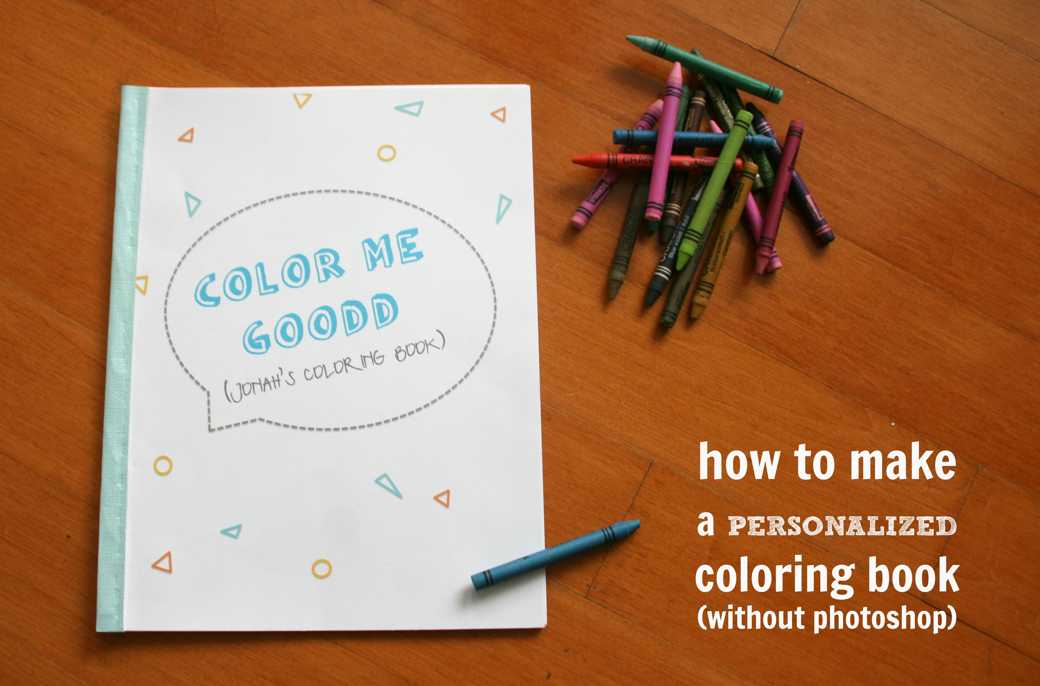 Personalized Coloring Books {coloring pictures} - C.R.A.F.T.