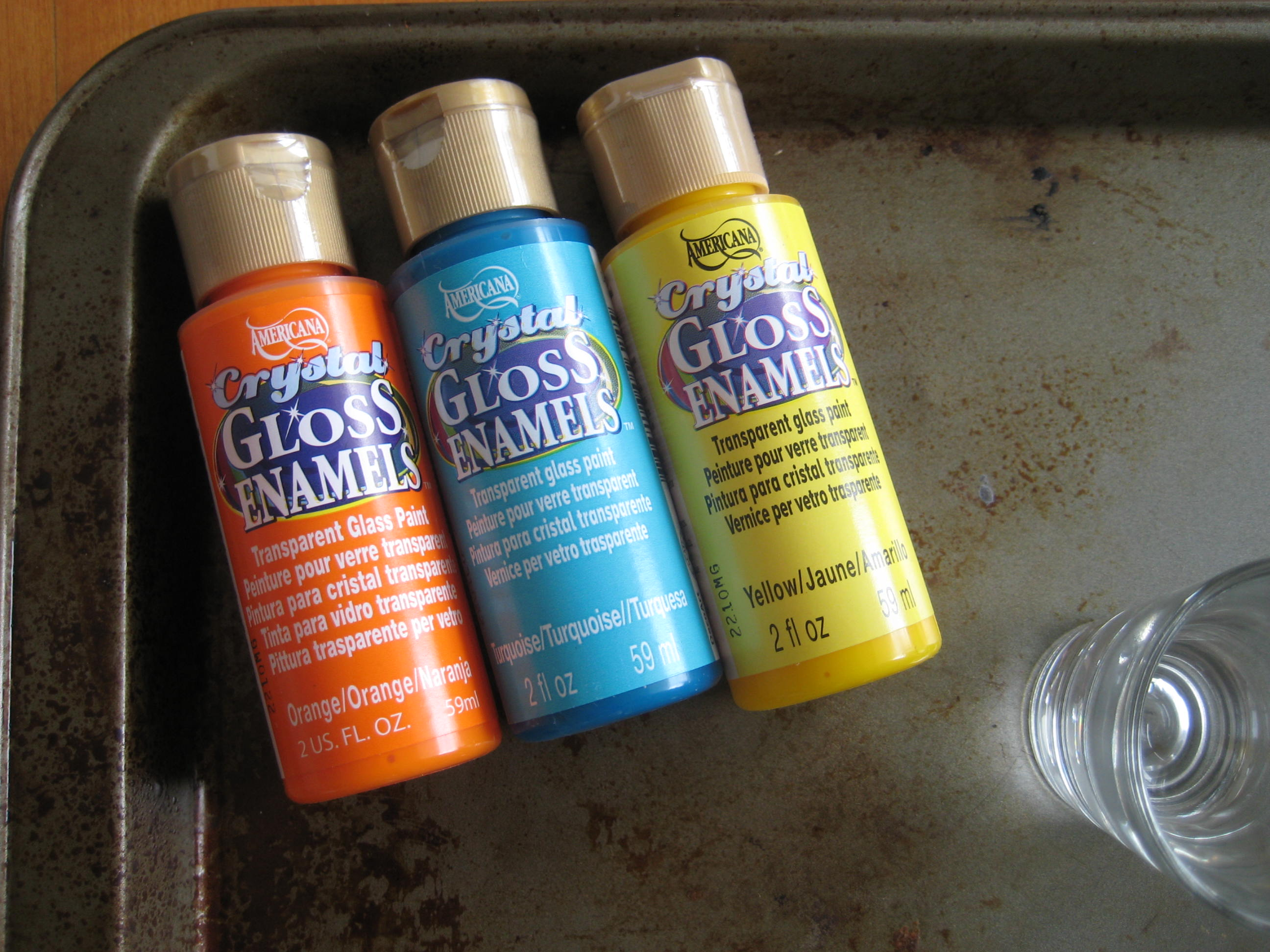 How to paint glass shot glass c r a f t for Paint to use on glass