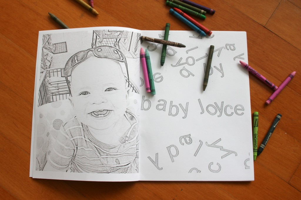 Embroidered Book Cover Diy : Personalized coloring book pictures diy