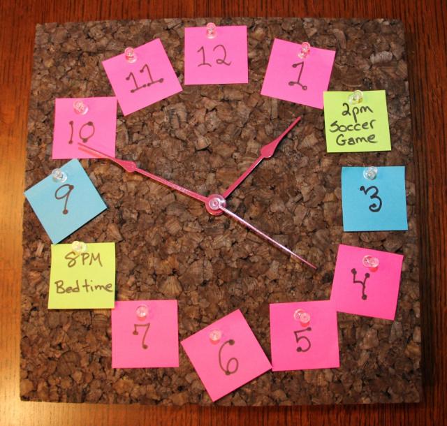 Post It Note clock