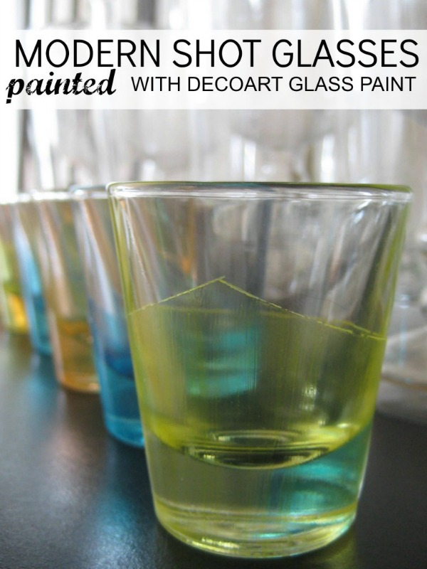 how to paint glass shot glass c r a f t. Black Bedroom Furniture Sets. Home Design Ideas