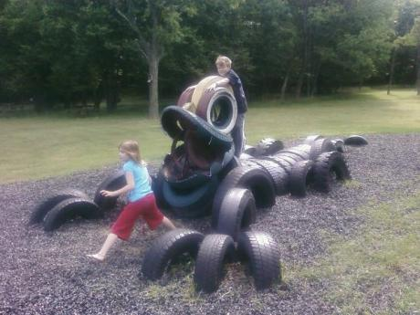 Tire crafts c r a f t for Used tire yard art