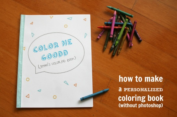 How to make personalized coloring pages
