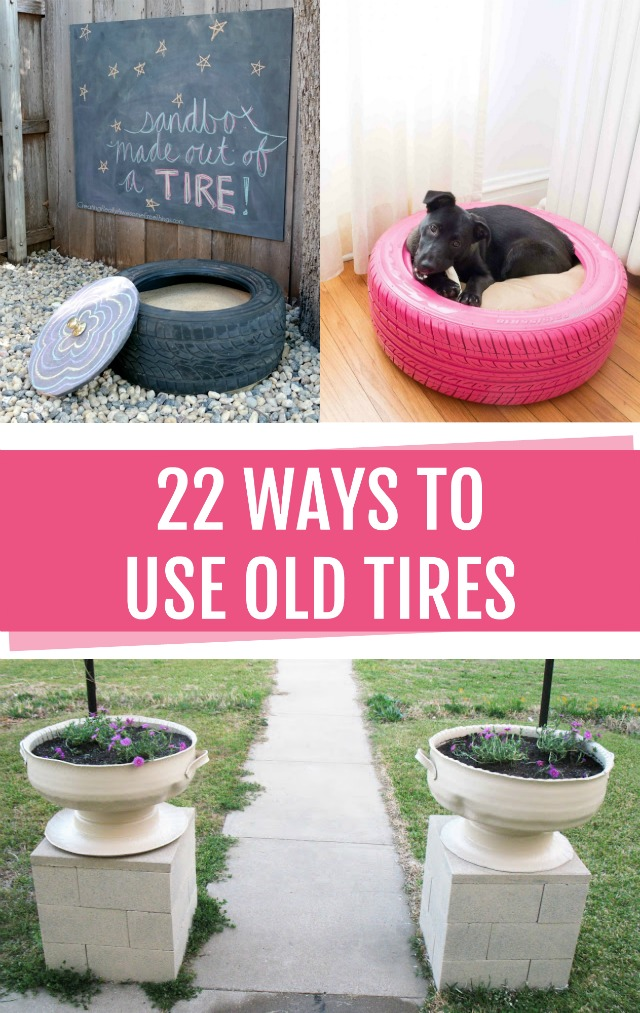 Tire planters and tire seats