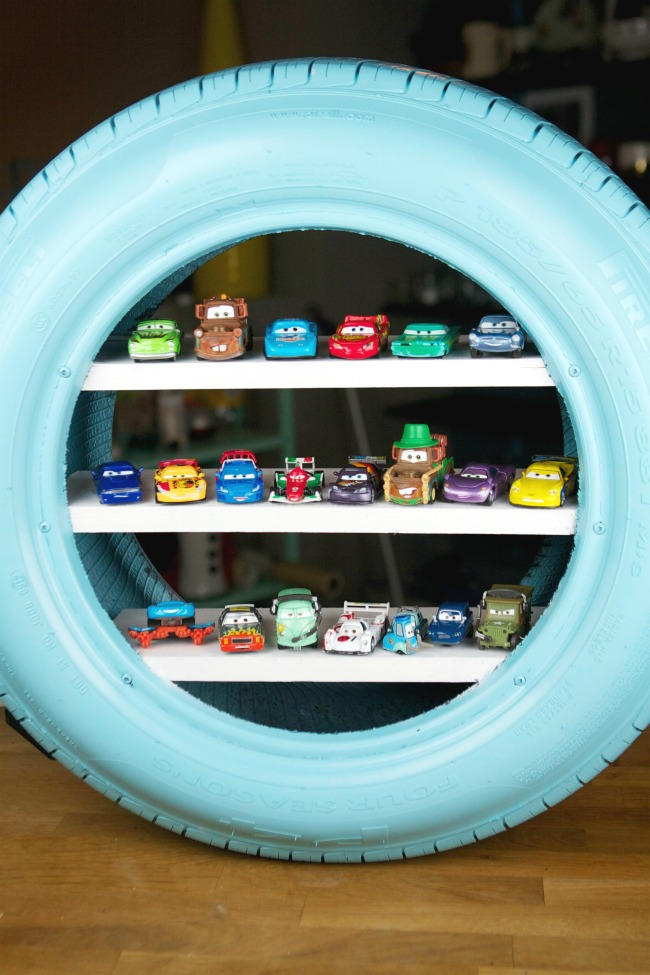 car-tire-shelving