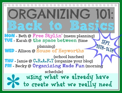 how to organize your blog