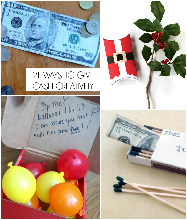 21 Ways to give cash creatively