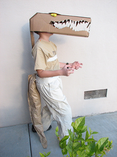 Homemade alligator halloween costume