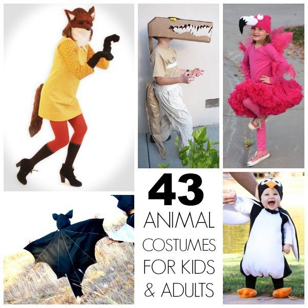 Homemade animal costumes