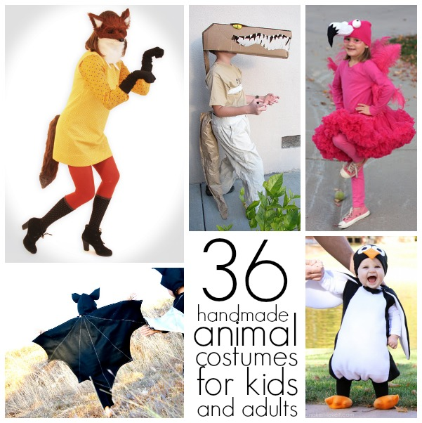 36 Homemade animal costumes for everyone!