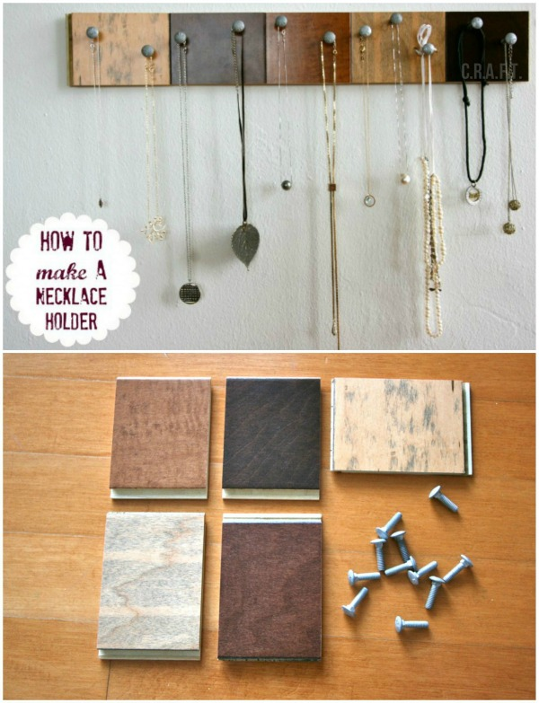 Organize necklaces with this simple DIY!