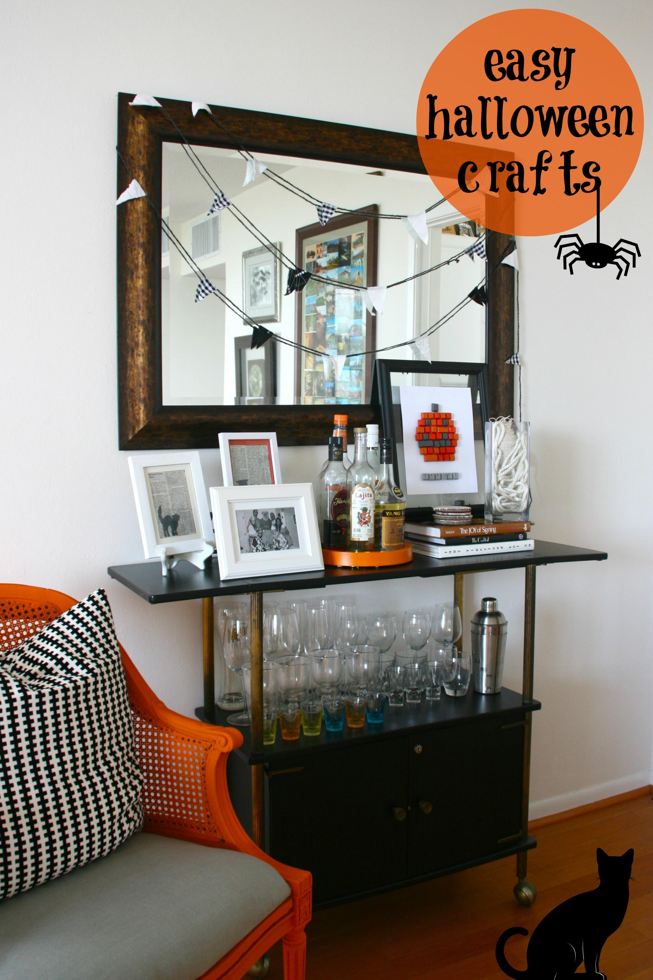 Easy Halloween Makeup: Halloween Crafts {coasters}