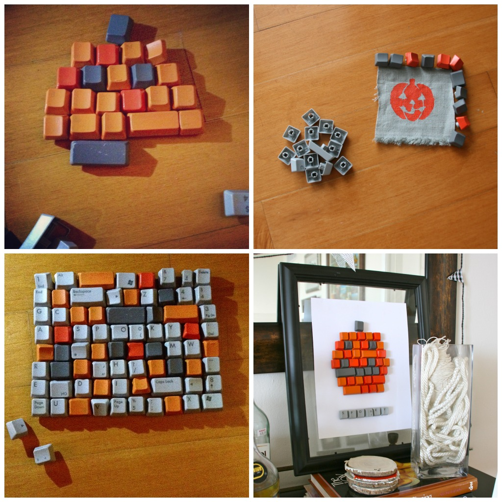 Halloween crafts {keyboard pumpkin} - C.R.A.F.T.