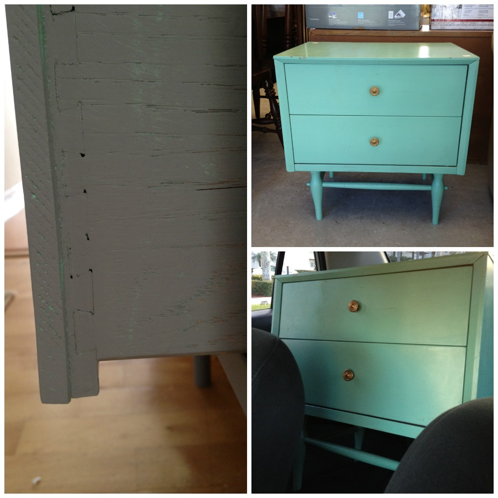 thrift store table makeover paint wood furniture c r a f t