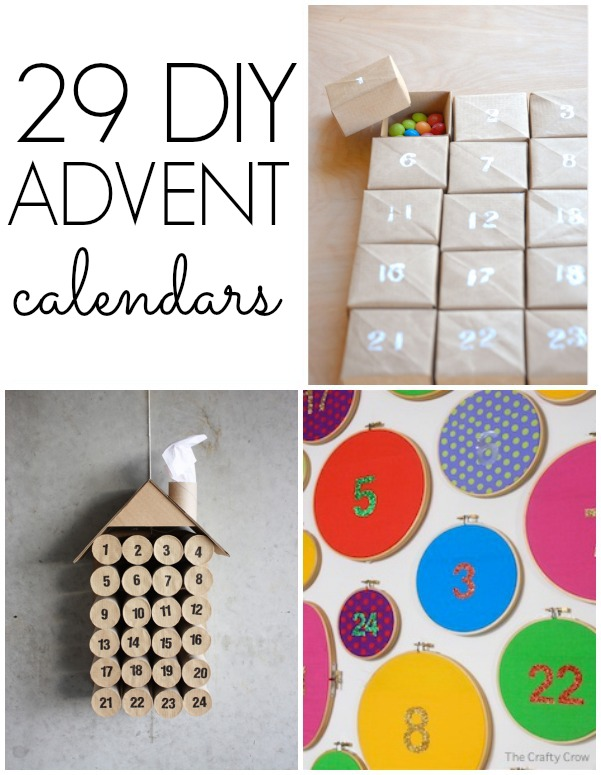 DIY advent calendars to make with kids!