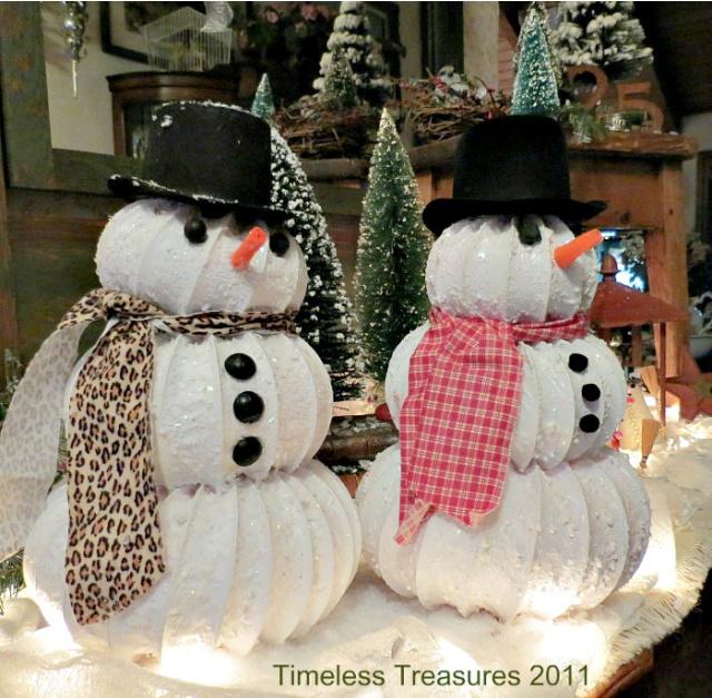 Dryer vent snowmen