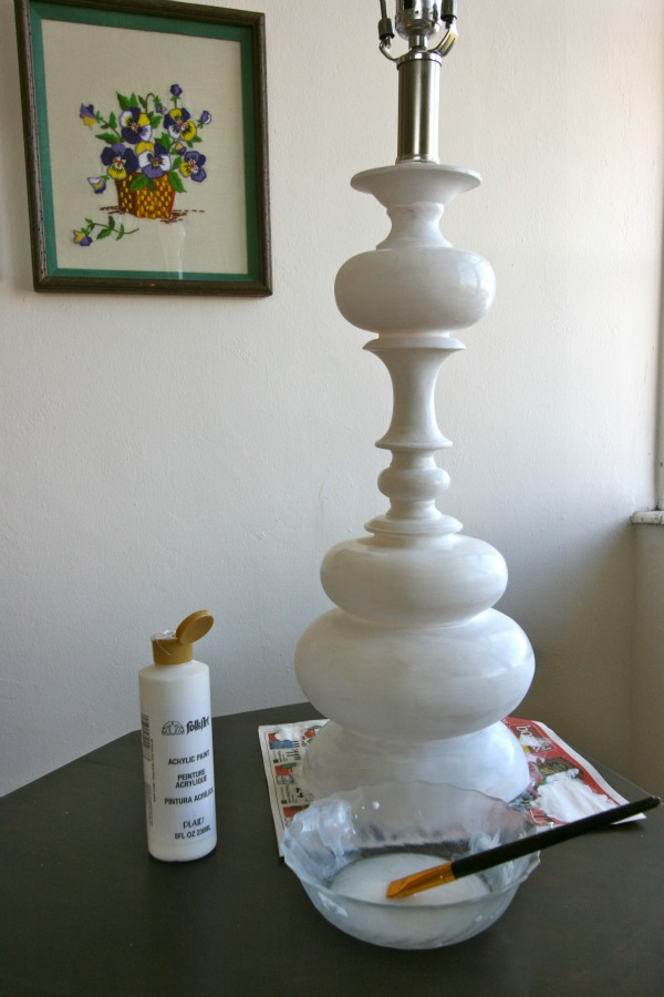 how to paint a lamp