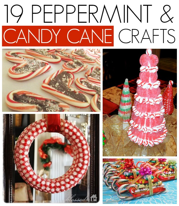 19 Peppermint and candy cane crafts