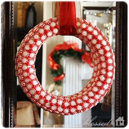 DIY Peppermint wreath