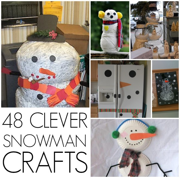 48 Snowman crafts out of things like socks, rocks, and gum!