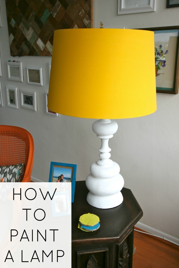how to paint a lamp c r a f t