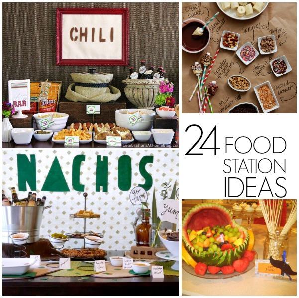 24 Food station ideas