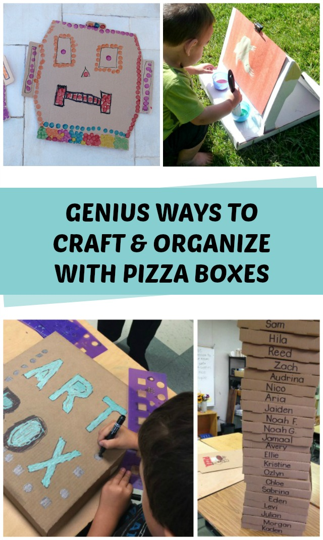 Pizza box crafts