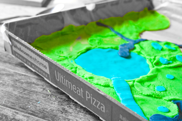 Pizza box landforms