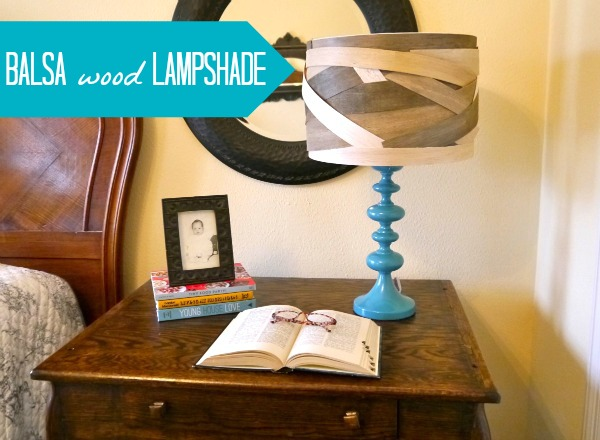 How to make a balsa wood lampshade