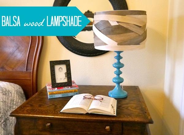 How to make a balsa wood lampshade