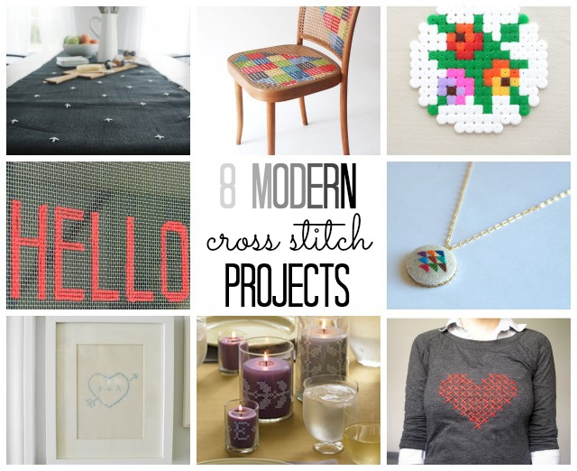 8 modern cross stitch projects (via @thecraftblog )