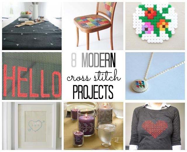 8 modern cross stitch projects (via @thecraftblog )