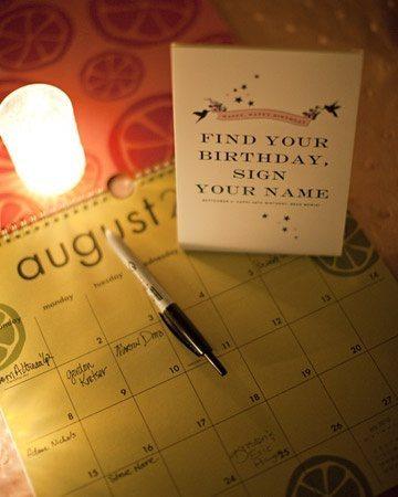 Calendar guest book idea