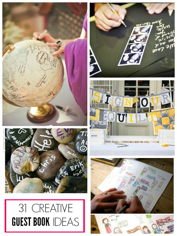 31 clever guest book ideas!