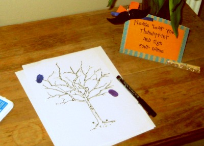 Leaf a thumbprint guest book
