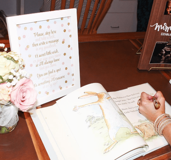 Children's book as guest book