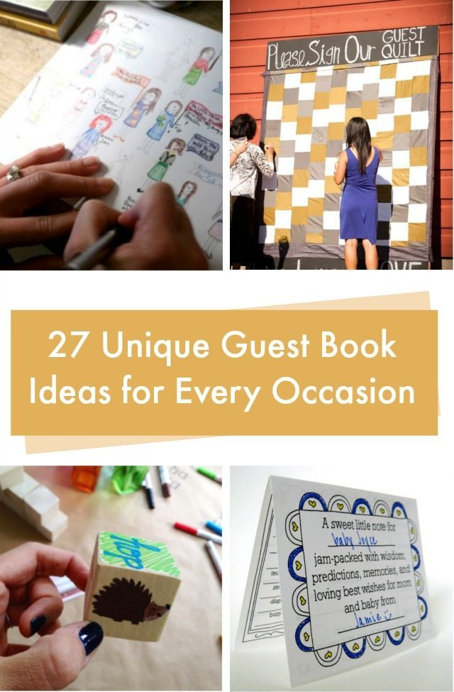 27 Guest Book Ideas Craft