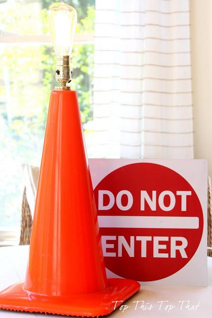 construction cone lamp