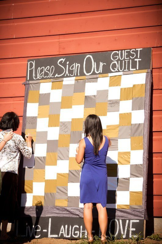 Wedding quilt guest book