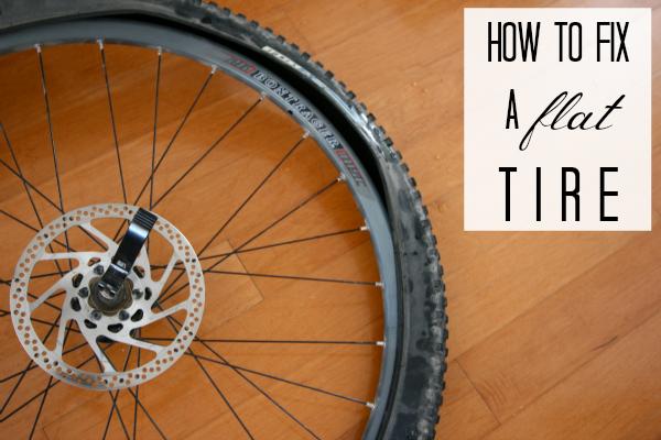 How to fix a flat bike tire