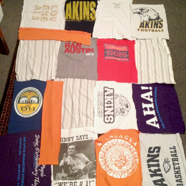 How to make a t shirt quilt part 1 c r a f t for How to make t shirt quilts easy